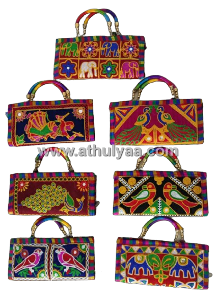 Embroidered Rajasthani bags