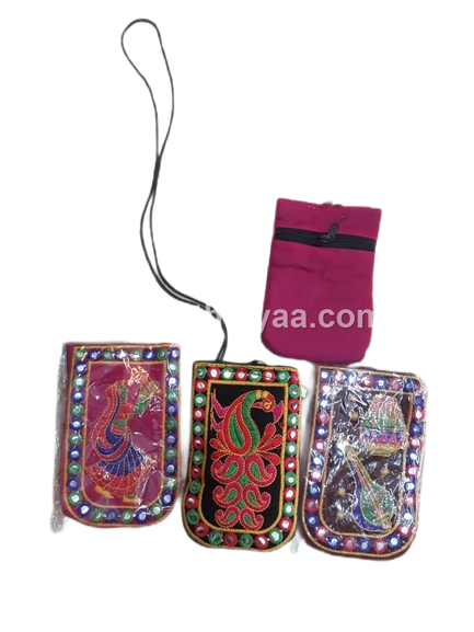Mirror work mobile pouch