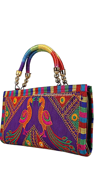 Embroidery fancy hand bag