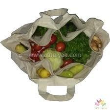 Foldable vegetable bags,Printed vegetable bags,vegetable bags with pockets,vegetable bags with slots