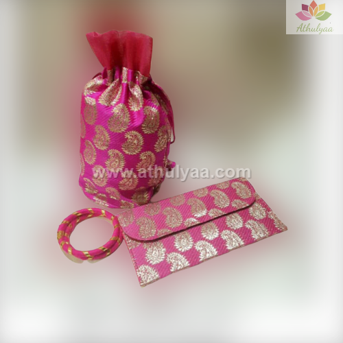 Potli clutch bangle combo