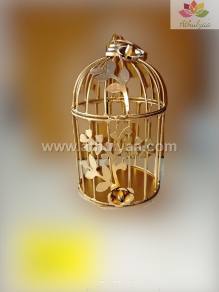 Metal Cage with floral vine