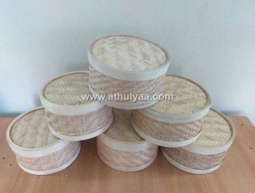 bamboo round box