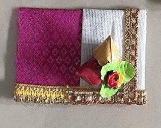 Saree Dhoti Pasupu kumkum packing