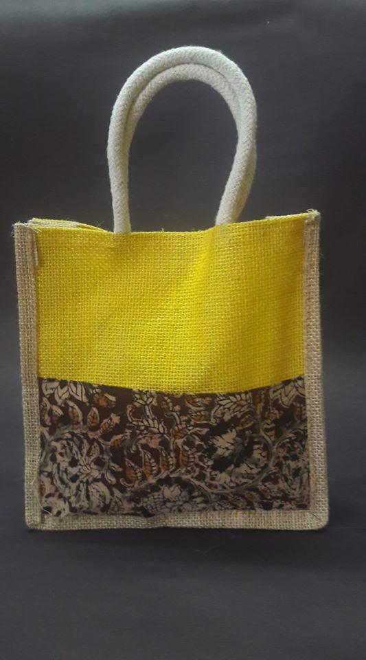 Jute bag with Kalamkari work