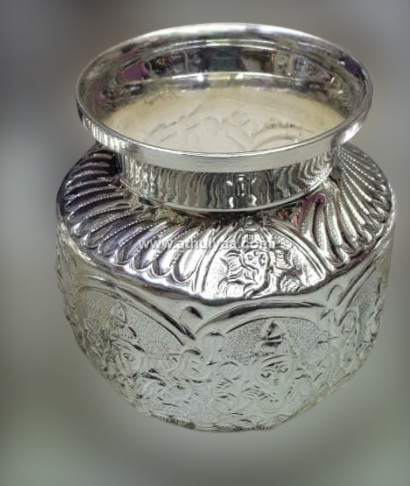 German Silver Ashtalakshmi Sombu Kalash