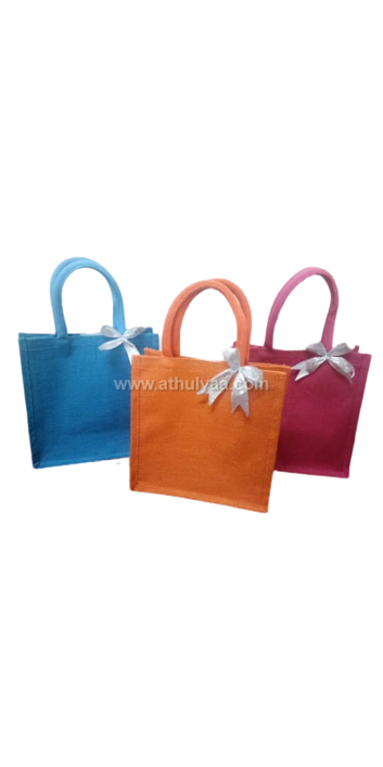 Single colour jute with bow