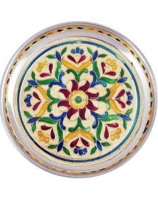 Meenakari Floral Plate-7 Inches