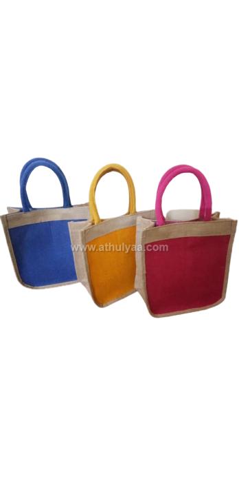 twin coloured jute bags