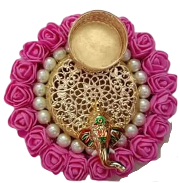 Floral Ganesha TLight Holder